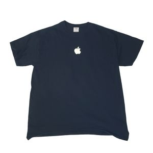Black Short Sleeve Apple Shirt Mac Pros Gildan L